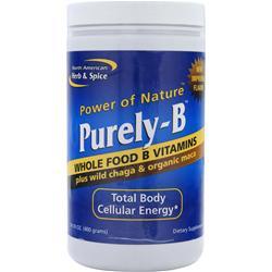 North American Herb & Spice Purely-B - B Vitamins + Wild Chaga & Maca 400 grams