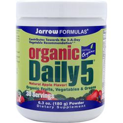 JARROW Organic Daily 5 (Powder) 6.3 oz