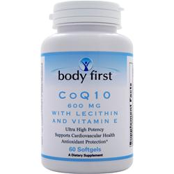 BODY FIRST CoQ10 (600mg) with Lecithin and Vitamin E 60 sgels
