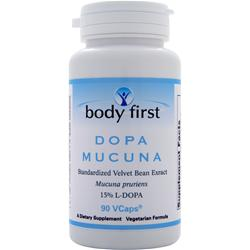 BODY FIRST Dopa Mucuna - Standardized Velvet Bean Extract 90 vcaps