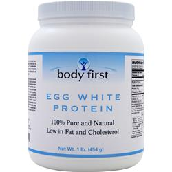 BODY FIRST Egg White Protein - 100% Pure and Natural 1 lbs