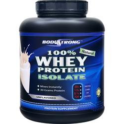 BodyStrong 100% Whey Protein Isolate - Natural Unflavored 5 lbs