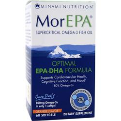 MINAMI NUTRITION MorEPA Optimal EPA-DHA Formula Orange 60 sgels