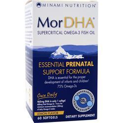 MINAMI NUTRITION MorDHA Essential Prenatal Support Formula Lemon Flavor 60 sgels