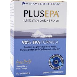 MINAMI NUTRITION PlusEPA Best by 2/15 60 sgels