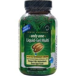 IRWIN NATURALS Only One Liquid-Gel Multi (without Iron) 60 sgels