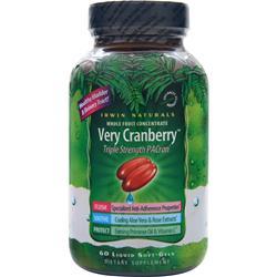 Irwin Naturals Very Cranberry 60 sgels