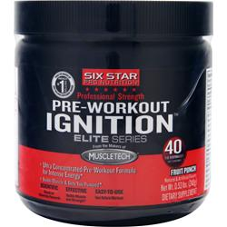 Six Star Pro Nutrition Professional Strength Pre-Workout Ignition Elite Series Fruit Punch .53 lbs