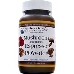 ECLECTIC INSTITUTE Fresh freeze-dried Mushroom Immune Espresso POW-der 72 grams
