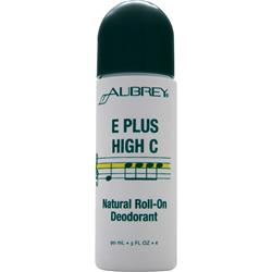 AUBREY E Plus High C Natural Roll-On Deodorant 3 fl.oz