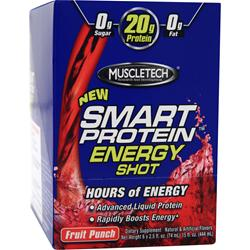 Muscletech Smart Protein Energy Shot Fruit Punch 6 bttls