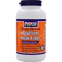 NOW Psyllium Husk Fiber Orange 12 oz
