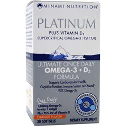 Minami Nutrition MorEPA - Platinum Plus Vitamin D3 Orange 30 sgels