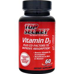 TOP SECRET NUTRITION Vitamin D3 Plus Co-Factors 60 caps