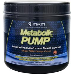 MRM Metabolic Pump Sugar Free Orange 195 grams