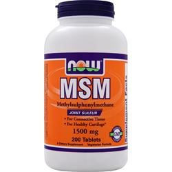 NOW MSM (1500mg) 200 tabs