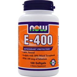 Now E-400 (d-alpha w/ 20% mixed tocopherols) 100 sgels