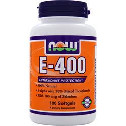 Now E-400 Natural (d-alpha Mixed Tocopherols) 100 sgels