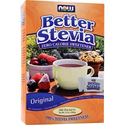 Now Better Stevia - Zero Calorie Sweetener Original 100 pckts