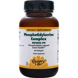 COUNTRY LIFE Neuro-PS Phosphatidylserine Complex 60 sgels