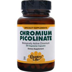 COUNTRY LIFE Chromium Picolinate (200mcg) 200 vcaps