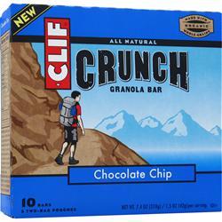 Clif Bar Crunch Granola Bar Chocolate Chip 10 bars