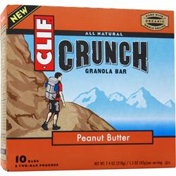 Clif Bar Crunch Granola Bar Peanut Butter 10 bars
