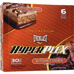 EverNutrition Everlast HyperPlex Bar Butternut Crunch 6 bars