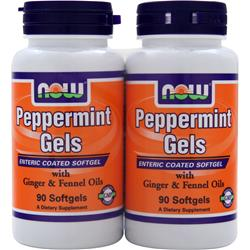 NOW Peppermint Gels 90+90 Twin Pack 180 sgels