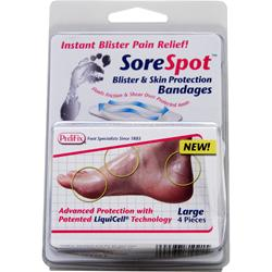 PEDIFIX SoreSpot - Blister & Skin Protection Bandages Large 4 unit
