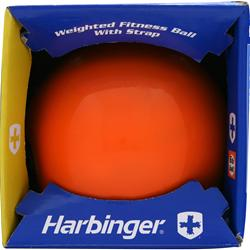 HARBINGER Weighted Fitness Ball with Strap 8 lb 1 ball