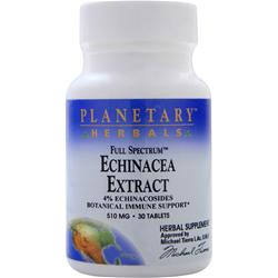 Planetary Formulas Echinacea Extract (510mg) 30 tabs