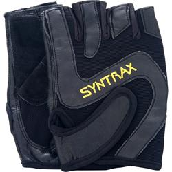 Syntrax Leather Weight Lifting Gloves Black - One Size 2 glove