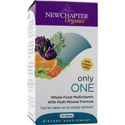 New Chapter Organics - Only One 72 tabs