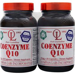 OLYMPIAN LABS Coenzyme Q10 (60mg) Twin Pack 60+60 120 caps