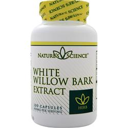 NATURE'S SCIENCE White Willow Bark (400mg) 100 caps