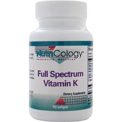 NUTRICOLOGY Full Spectrum Vitamin K 90 sgels