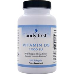 BODY FIRST Vitamin D3 (1000IU) 240 sgels