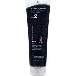 GIOVANNI D:tox System - Purifying Exfoliant Body Scrub Step 2 6 oz