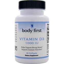 BODY FIRST Vitamin D3 (1000IU) 60 sgels