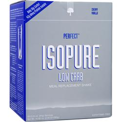 NATURE'S BEST Perfect Isopure Low Carb Meal Replacement Shake Creamy Vanilla 20 pckts