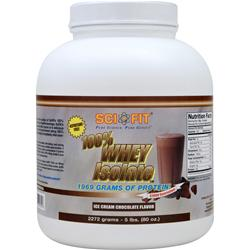 Sci-Fit 100% Whey Isolate Ice Cream Chocolate 5 lbs
