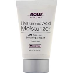 NOW Hyaluronic Acid Moisturizer - AM Fine Line Smoothing & Repair 2 oz