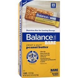 Balance Bar Balance Bare Sweet and Salty Bar Peanut Butter 15 bars