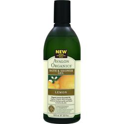 AVALON ORGANICS Bath & Shower Gel Lemon 12 fl.oz
