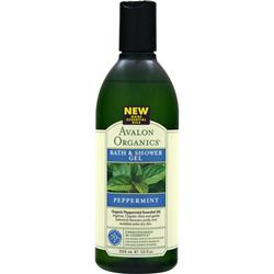 AVALON ORGANICS Bath & Shower Gel Peppermint 12 fl.oz