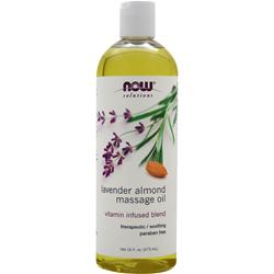 NOW Lavender Almond Massage Oil 16 fl.oz