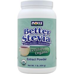 Now Better Stevia - Zero Calorie Sweetener (Certified Organic) 1 lbs