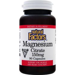 NATURAL FACTORS Magnesium Citrate (150mg) 90 caps