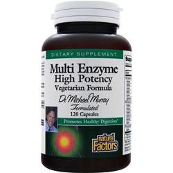 Natural Factors Multi Enzyme High Potency 120 caps